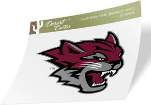 California Cal State University Chico CSU Wildcats NCAA Vinyl Decal Laptop Water Bottle Car Scrapbook (Sticker - 00001A)