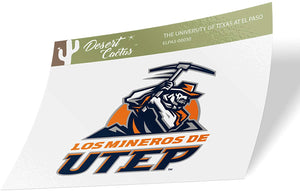 The University of Texas at El Paso UTEP Miners NCAA Vinyl Decal Laptop Water Bottle Car Scrapbook (Sticker - 0030)