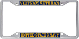 US Navy Vietnam Veteran License Plate Frame For Front Back of Car Officially Licensed United States