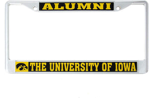 University of Iowa Hawkeyes NCAA Metal License Plate Frame For Front Back of Car Officially Licensed UI Hawkeyes (Alumni)