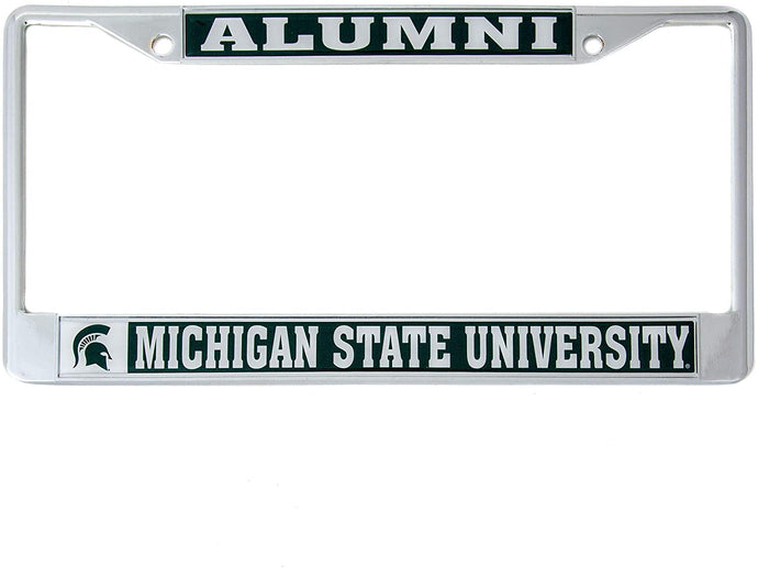 Michigan State University Alumni Metal License Plate Frame For Front Back of Car Officially Licensed MSU Spartans (Alumni)