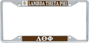 Lambda Theta Phi Fraternity Crest Metal License Plate Frame For Front Back of Car Officially Licensed (Crest LP Frame)
