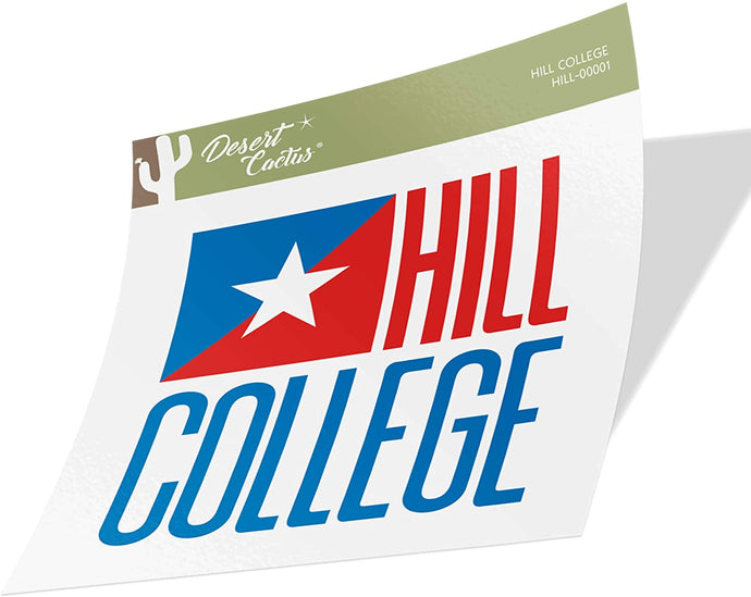Hill College Rebel NCAA Vinyl Decal Laptop Water Bottle Car Scrapbook (Sticker - 00001)