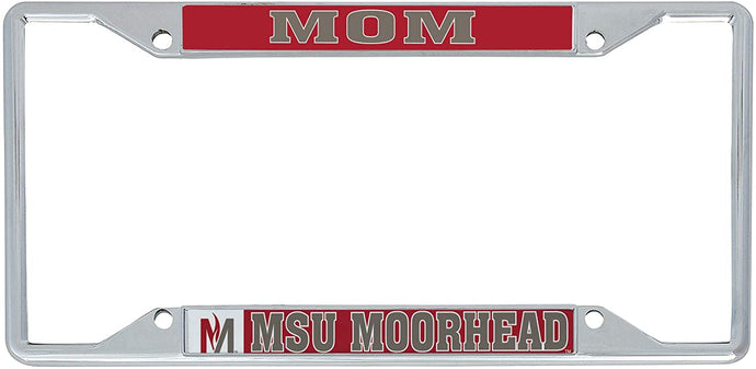 Minnesota State University Moorhead MSUM Dragons NCAA Metal License Plate Frame For Front Back of Car Officially Licensed (Mom)