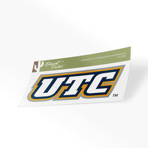 University of Tennessee at Chattanooga UTC Mocs NCAA Vinyl Decal Laptop Water Bottle Car Scrapbook (Sticker - 006)