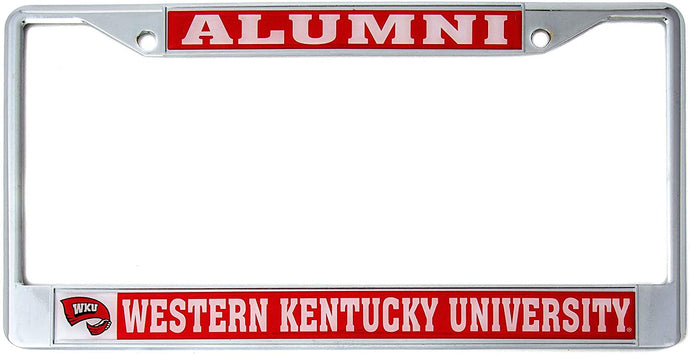 Western Kentucky University Alumni Metal License Plate Frame For Front Back of Car Officially Licensed Hilltoppers (Alumni)