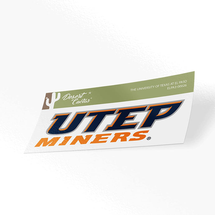 The University of Texas at El Paso UTEP Miners NCAA Vinyl Decal Laptop Water Bottle Car Scrapbook (Sticker - 00026)