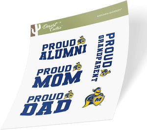 Madonna University Crusaders NCAA Sticker Vinyl Decal Laptop Water Bottle Car Scrapbook (Family Full Sheet)