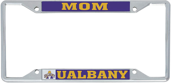 University at Albany UALBANY Great Danes SUNY NCAA Metal License Plate Frame For Front Back of Car Officially Licensed (Mom)