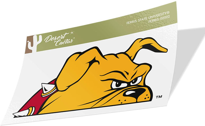 Ferris State University FSU Bulldogs NCAA Vinyl Decal Laptop Water Bottle Car Scrapbook (Sticker - 00002)
