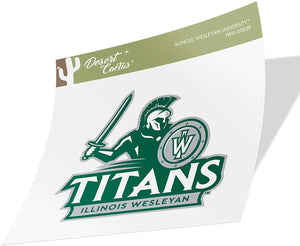 Illinois Wesleyan University IWU Titans NCAA Vinyl Decal Laptop Water Bottle Car Scrapbook (Sticker - 00029)
