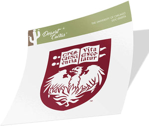 The University of Chicago UChicago Maroons NCAA Vinyl Decal Laptop Water Bottle Car Scrapbook (Sticker - 00007A)