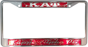Kappa Alpha Psi Metal or Plastic License Plate Frame For Front Back of Car (Metal - Marble)