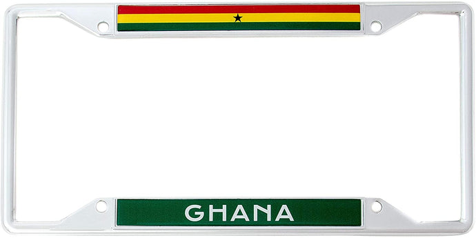 Country of Ghana Flag License Plate Frame For Front Back of Car Vehicle Truck Ghanaian