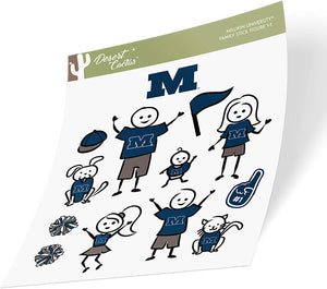 Millikin University MU Big Blue NCAA Sticker Vinyl Decal Laptop Water Bottle Car Scrapbook (Full Sheet Stick Figure)