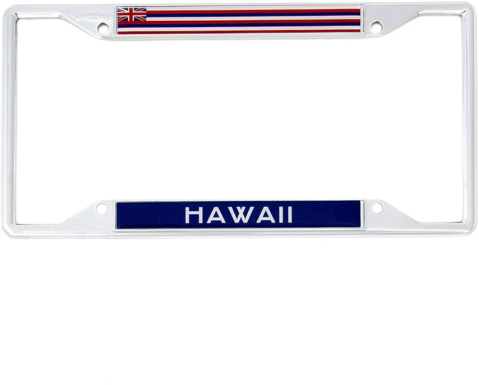State of Hawaii Flag License Plate Frame For Front Back of Car Vehicle Truck