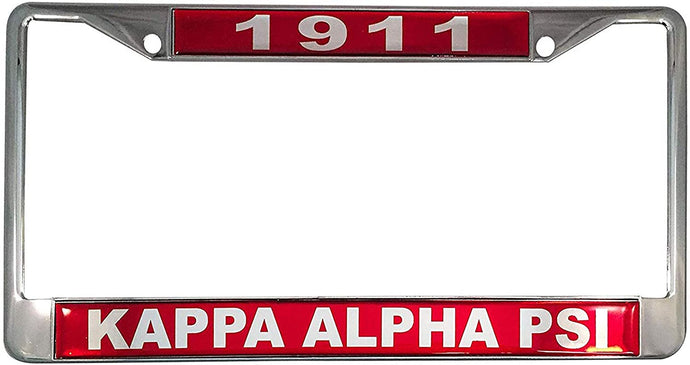 Kappa Alpha Psi Metal or Plastic License Plate Frame For Front Back of Car (Metal - Year/Name)