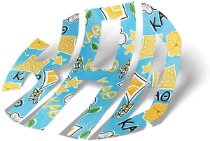 Kappa Alpha Theta Sorority Monogram in Kite Pattern Print Sticker 3""