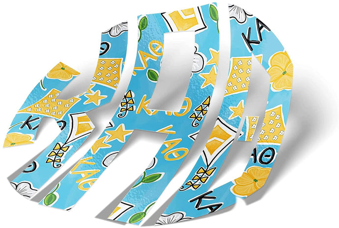 Kappa Alpha Theta Sorority Monogram in Kite Pattern Print Sticker 3