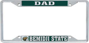 Bemidji State University BSU Beavers NCAA Metal License Plate Frame For Front Back of Car Officially Licensed (Dad)