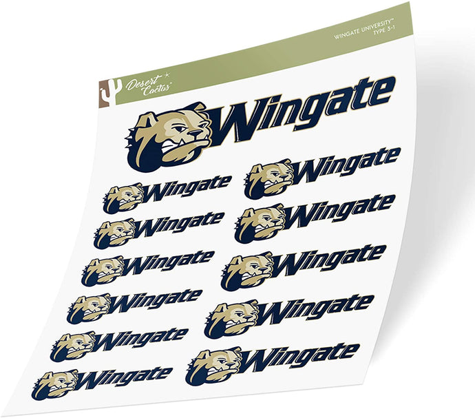 Wingate University NCAA Sticker Vinyl Decal Laptop Water Bottle Car Scrapbook (Sheet Type 3-1)