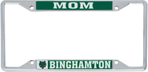 Binghamton University Bearcats NCAA Metal License Plate Frame For Front Back of Car Officially Licensed (Mom)