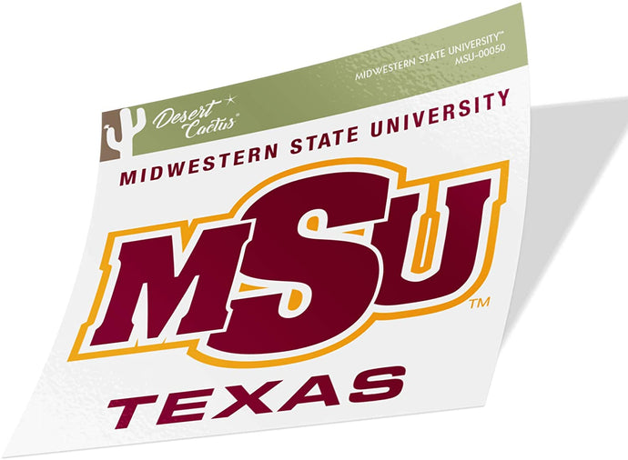 Midwestern State University MSU Mustangs NCAA Vinyl Decal Laptop Water Bottle Car Scrapbook (Sticker - 00050)