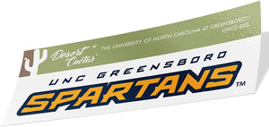 University of North Carolina Greensboro UNCG Spartans NCAA Vinyl Decal Laptop Water Bottle Car Scrapbook (Sticker - 002)