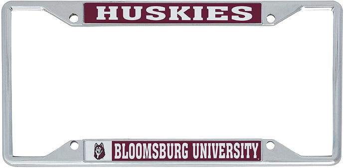 Bloomsburg University Huskies NCAA Metal License Plate Frame For Front Back of Car Officially Licensed (Mascot)