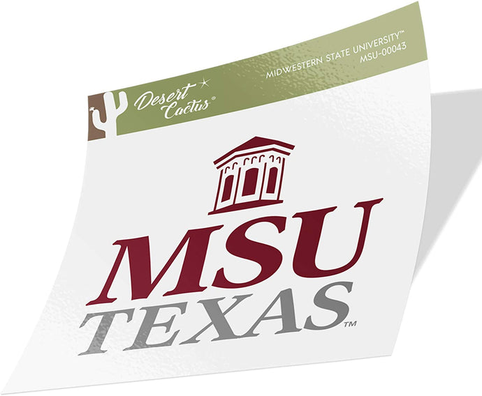 Midwestern State University MSU Mustangs NCAA Vinyl Decal Laptop Water Bottle Car Scrapbook (Sticker - 00043)