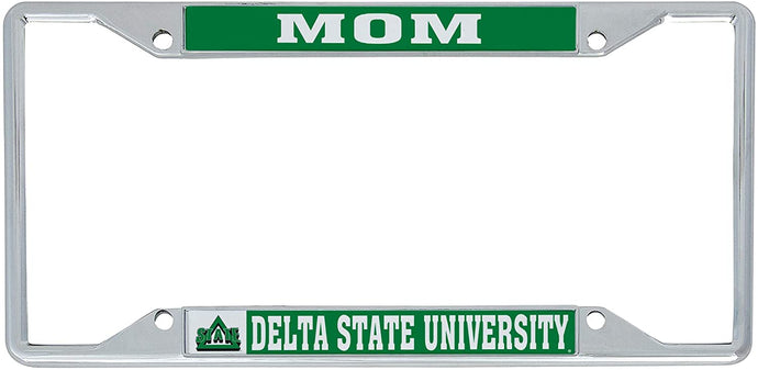 Delta State University Lady Statesmen NCAA Metal License Plate Frame For Front Back of Car Officially Licensed (Mom)