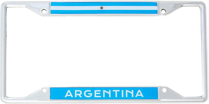 Country of Argentina Flag License Plate Frame For Front Back of Car Vehicle Truck Argentinian