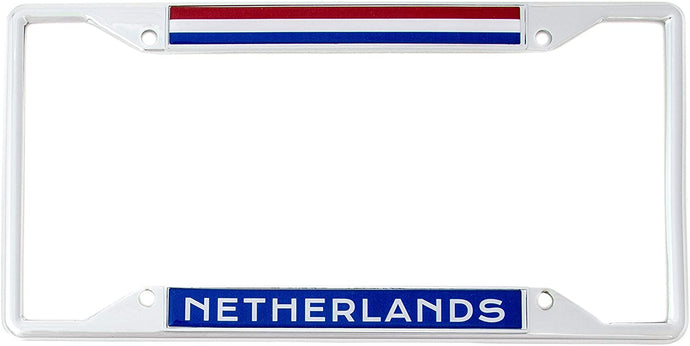 Country of Netherlands Flag License Plate Frame For Front Back of Car Vehicle Truck