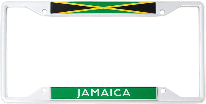 Country of Jamaica Jamaican Flag License Plate Frame For Front Back of Car Vehicle Truck Jamaican