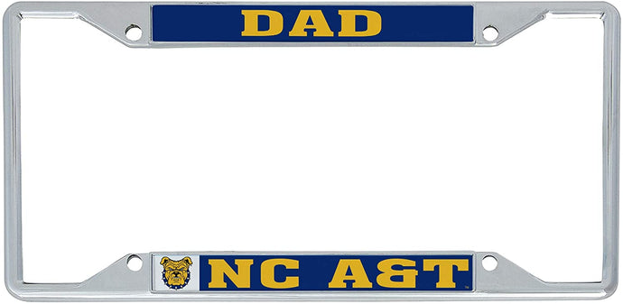 North Carolina A & T State University NCAA Metal License Plate Frame For Front Back of Car Officially Licensed (Dad)
