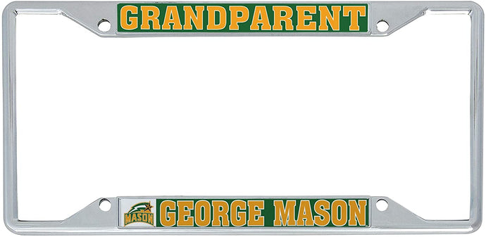 George Mason University GMU Patriots NCAA Metal License Plate Frame For Front Back of Car Officially Licensed (Grandparent)