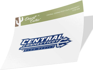 Central Connecticut State University CCSU Blue Devils NCAA Vinyl Decal Laptop Water Bottle Car Scrapbook (Sticker - 005)