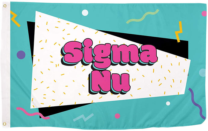 Sigma Nu 90's Fraternity Flag Banner 3 feet x 5 feet Sign Decor Sigma Nu (Flag - 90?s)