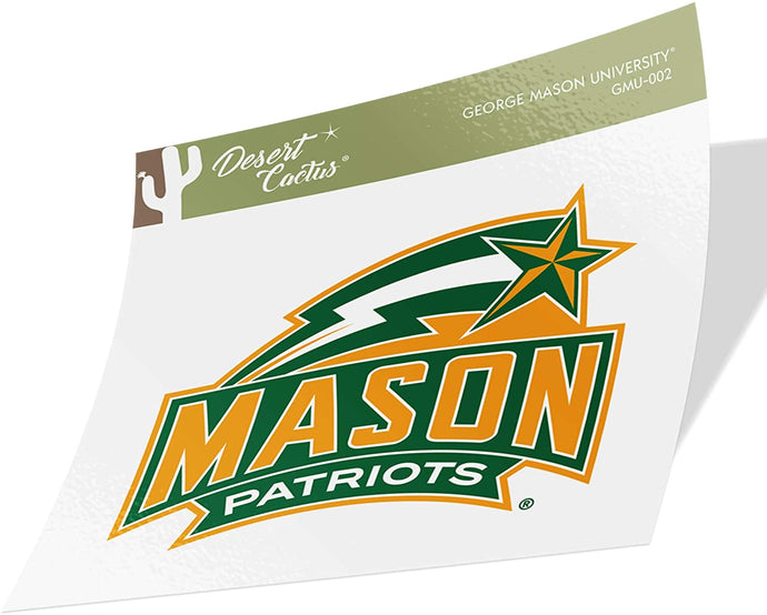 George Mason University GMU Patriots NCAA Vinyl Decal Laptop Water Bottle Car Scrapbook (Sticker - 001)