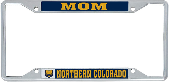 University of Northern Colorado UNC Bears NCAA Metal License Plate Frame For Front Back of Car Officially Licensed (Mom)