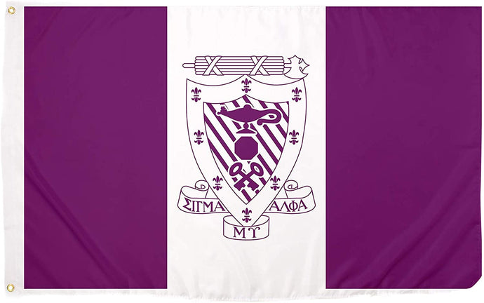 Sigma Alpha Mu Chapter/Main Fraternity Flag Greek Letter Banner Large 3 feet x 5 feet Sign Decor Sammy