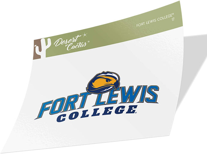 Fort Lewis College Skyhawks NCAA Vinyl Decal Laptop Water Bottle Car Scrapbook (Sticker - 17)