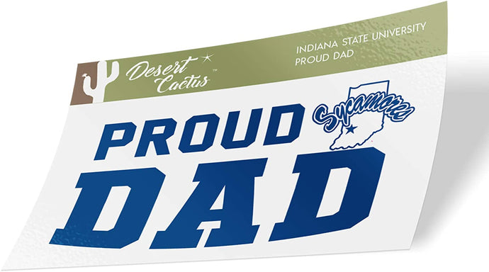 Indiana State University ISU Sycamores NCAA Vinyl Decal Laptop Water Bottle Car Scrapbook (Sticker - Dad)
