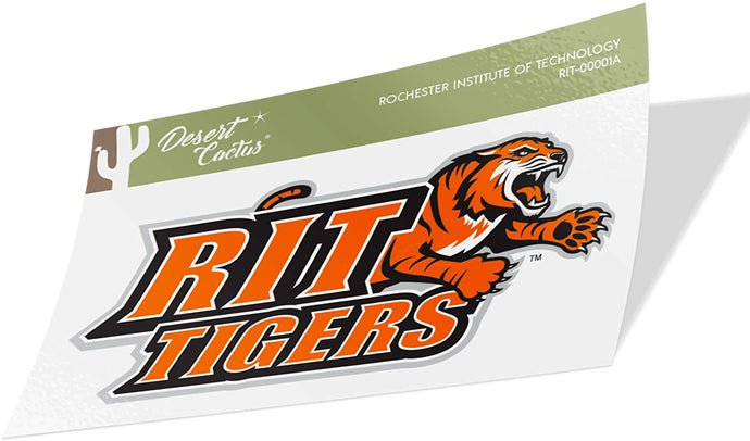 Rochester Institute of Technology RIT Tigers NCAA Vinyl Decal Laptop Water Bottle Car Scrapbook (Sticker - 00001A)