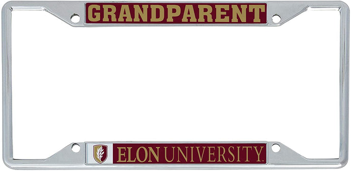Elon University Phoenix NCAA Metal License Plate Frame For Front Back of Car Officially Licensed (Grandparent)