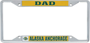 University of Alaska Anchorage UAA Seawolves NCAA Metal License Plate Frame For Front Back of Car Officially Licensed (Dad)