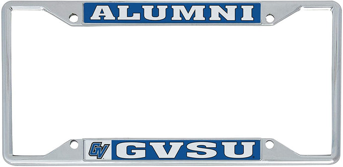 Grand Valley State University GVSU Lakers NCAA Metal License Plate Frame For Front Back of Car Officially Licensed (Alumni)