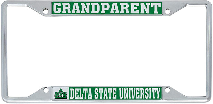 Delta State University Lady Statesmen NCAA Metal License Plate Frame For Front Back of Car Officially Licensed (Grandparent)
