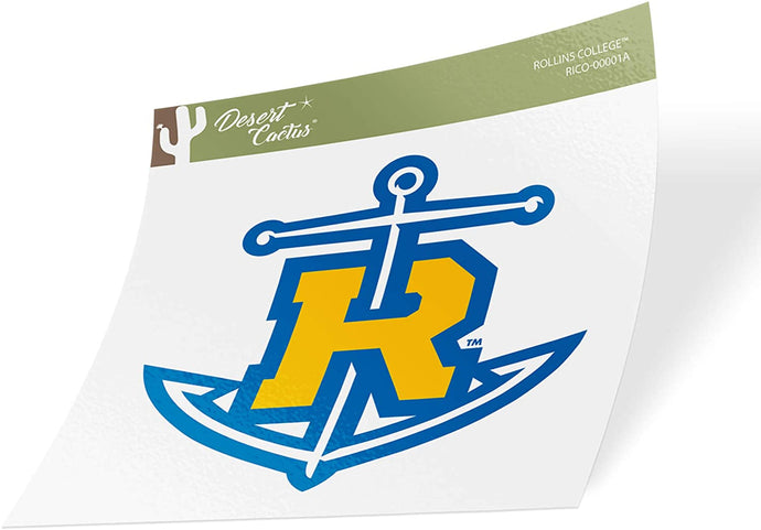 Rollins College Tars NCAA Vinyl Decal Laptop Water Bottle Car Scrapbook (Sticker - 00001a)