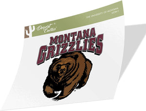 The University of Montana Grizzlies Lady Griz NCAA Vinyl Decal Laptop Water Bottle Car Scrapbook (Sticker - 1)